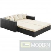 Convene 4 Piece Outdoor Patio Daybed WHITE