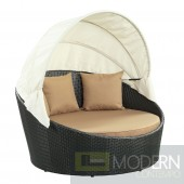 Siesta Canopy Outdoor Patio Daybed MOCHA