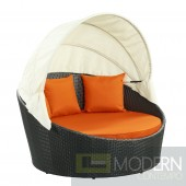 Siesta Canopy Outdoor Patio Daybed ORANGE