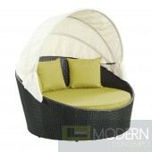 Siesta Canopy Outdoor Patio Daybed PERIDOT