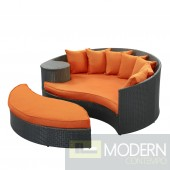 Tahiti Outdoor Patio Daybed ORANGE