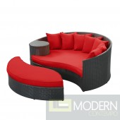 Tahiti Outdoor Patio Daybed RED