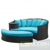 Tahiti Outdoor Patio Daybed TURQUOISE