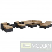Fusion 12 Piece Outdoor Patio Sectional Set