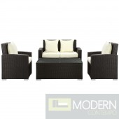 Fountain 4 Piece Outdoor Patio Sofa Set