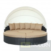 Quest Canopy Outdoor Patio Daybed Mocha