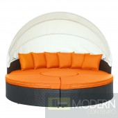 Quest Canopy Outdoor Patio Daybed ORANGE