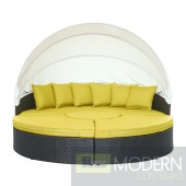 Quest Canopy Outdoor Patio Daybed PERIDOT