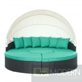 Quest Canopy Outdoor Patio Daybed TURQUOISE