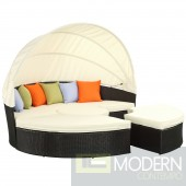 Quest Canopy Outdoor Patio Daybed WHITE