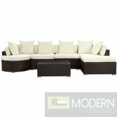 Montana 5 Piece Outdoor Patio Sectional Set