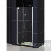 """Elegance Frameless Pivot Shower Door and SlimLine 32"""" by 32"""" Single Threshold Shower Base"""