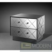 Modrest Segovia - Modern Mirrored Bedroom Furniture Nightstand