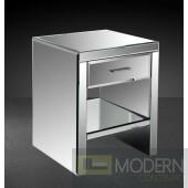 Modrest Gerona - Modern Mirrored Bedroom Nightstand