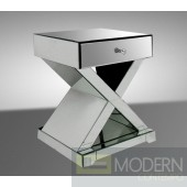 Modrest Xion - Transitional Mirrored Bedside Table