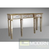 Harmon - Transitional Mirror Console Table
