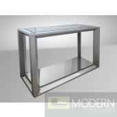 Modrest Hinton - Transitional Mirrored Console Table
