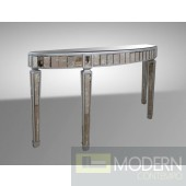 Modrest Crescent - Transitional Mirror Console Table