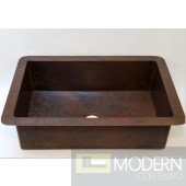 Open Undermount Copper Kitchen Sink