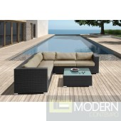 Renava H63 - Modern Patio Sectional Sofa With Coffee Table