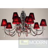 Modrest S1051 - Modern Black Chandelier w/ Crystals