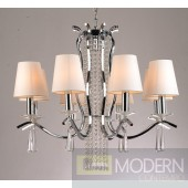 Modrest S1054 - Modern White Chandelier w/ Crystals