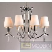 Modrest S1054 - Modern White Chandelier w/ Crystals