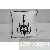 Modrest Transitional Black And White Print Throw Pillow