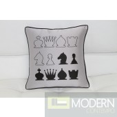 Modrest Black And Gray Chess Throw Pillow