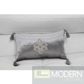 Modrest Silver Faux Crystal Throw Pillow