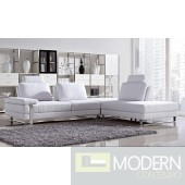 Divani Casa Vega - Modern Fabric Sectional Sofa Set With Pull-Back Seats