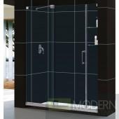 """Mirage Frameless Sliding Shower Door and SlimLine 34"""" by 60"""" Single Threshold Shower Base Left Hand Drain"""