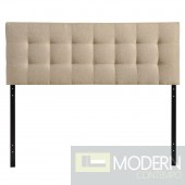 Lily Full Fabric Headboard beige