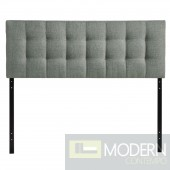 Lily Full Fabric Headboard Grey