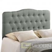 Annabel Queen Fabric Headboard Grey