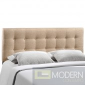 Emily King Fabric Headboard Beige