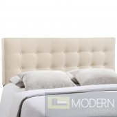 Emily King Fabric Headboard Ivory