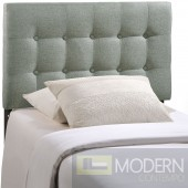 Emily Twin Fabric Headboard Grey