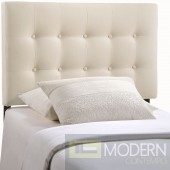Emily Twin Fabric Headboard Ivory