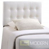 Emily Twin white Vinyl Headboard