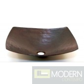 Square Copper Bath Vessel in Antigua Finish