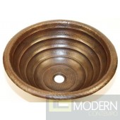 Round Tiered Copper Bath Sink in Antigua Finish