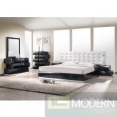 Milan Queen Size Bed in Black