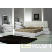 Milan Queen Size Bed in White