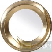 Modrest PU057 - Transitional Gold Round Mirror