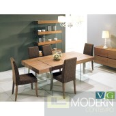 Contemporary Walnut Floating Dining table