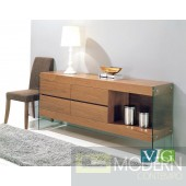 Adrian Modern Walnut Buffet