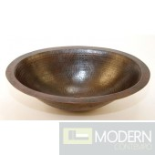 Oval Undermount Copper Bath Sink in Antigua Finish