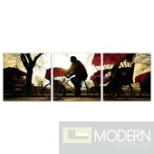 Modrest Ride 3-Panel Photo on Canvas