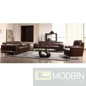 Divani Casa 3946 - Modern Faux Crocodile Leather Accent Sofa Set